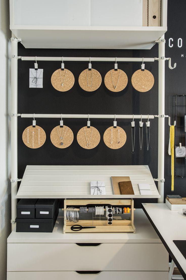 STOLMEN kast | #IKEA #LangLeveVerandering #make-over #ZZP #werkplek #kast #sieraden
