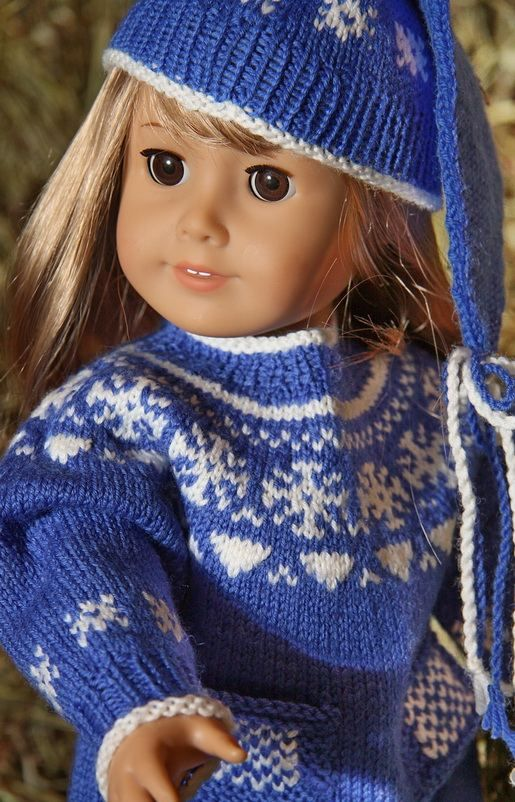 154 Best American Girl Doll Knitting Fairisle Images On Pinterest