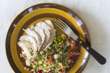 Chicken breast and quinoa salad