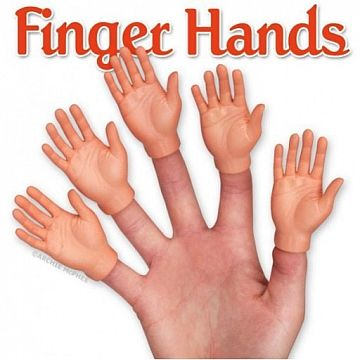 Archie McPhee Finger Hands have been a non stop hot item! #fingerhands #creepy #highfive