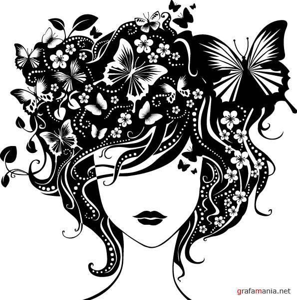 силуэт волос девушки: 19 тыс изображений найдено в Яндекс.Картинках