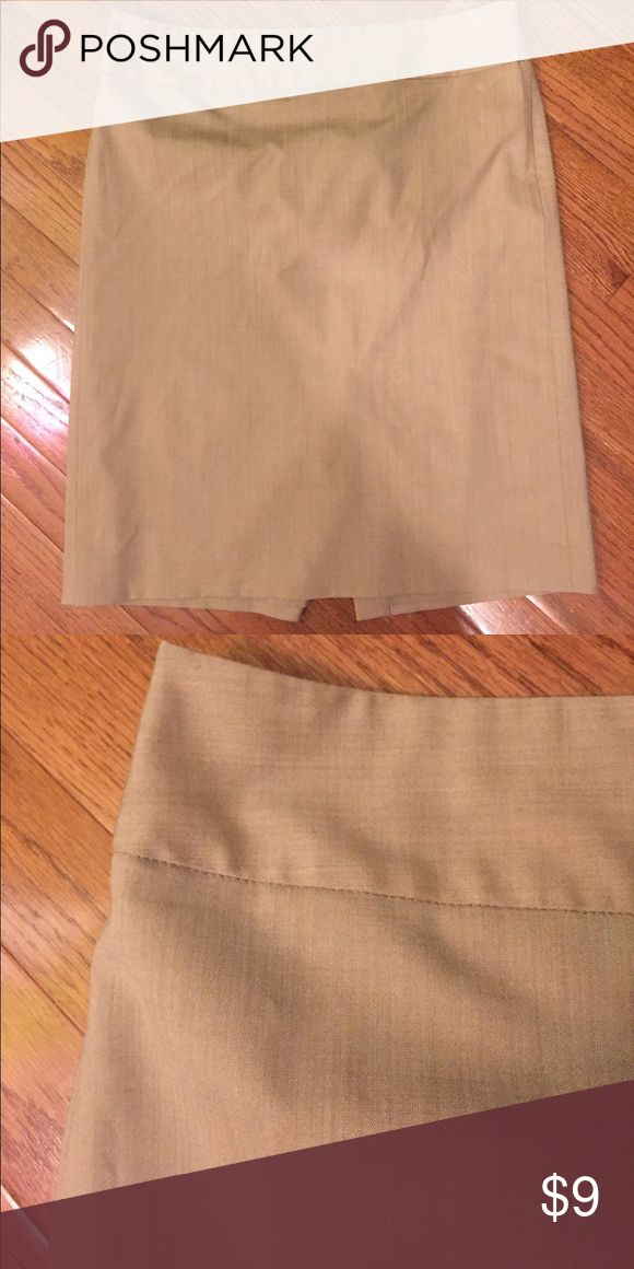 J. Crew Pencil Skirt Tan pencil skirt. Has a great stretch to it. Gently worn. J. Crew Skirts Pencil