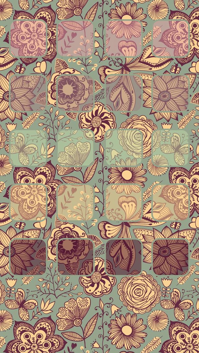 Tap image for more iPhone pattern wallpaper! Vintage