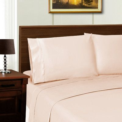 Simple Luxury Superior 600 Thread Count Sheet Set Color: Pink, Size: California King