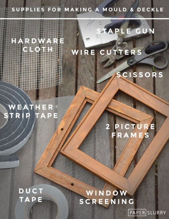 Supplies for making a mould and deckle for hand papermaking - and a tutorial how to make it