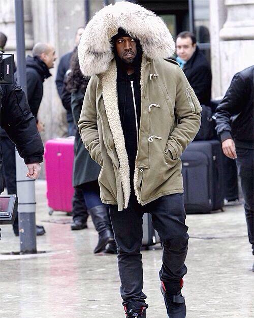 Sexy big fur Parka coat