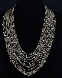 Elegant Multi Layer Necklace silver