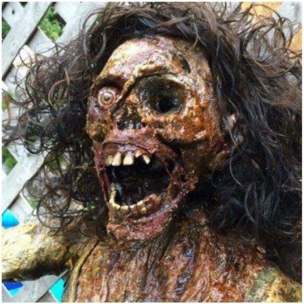 an artist made life size zombie woman prop unique one of a - Zombie Props