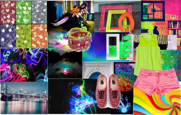 """""""neon and bright"""" by aavagian ❤ liked on Polyvore"""