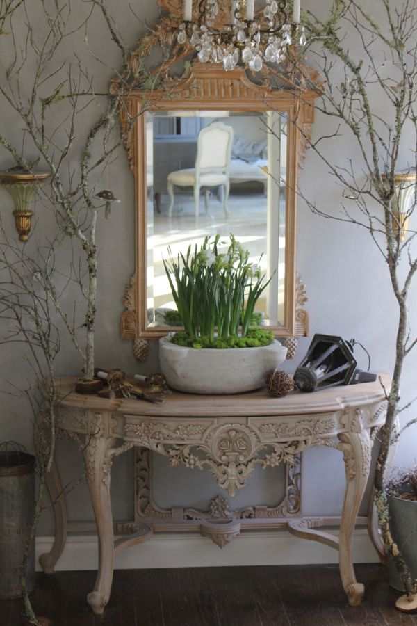 large branches around the mirror