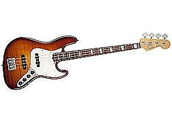 Fender American Select Electric Jazz Bass Guitar - Tobacco Sunburst