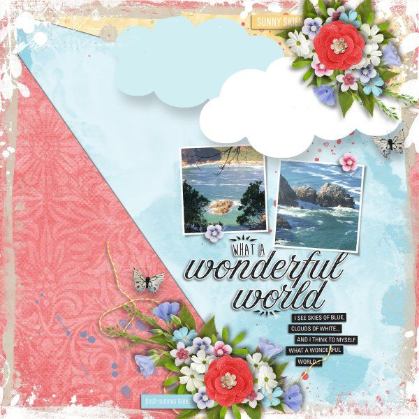 Kit and Template Blue Skies of Summer by Heartstrings Scrap Art. Photos mine.
