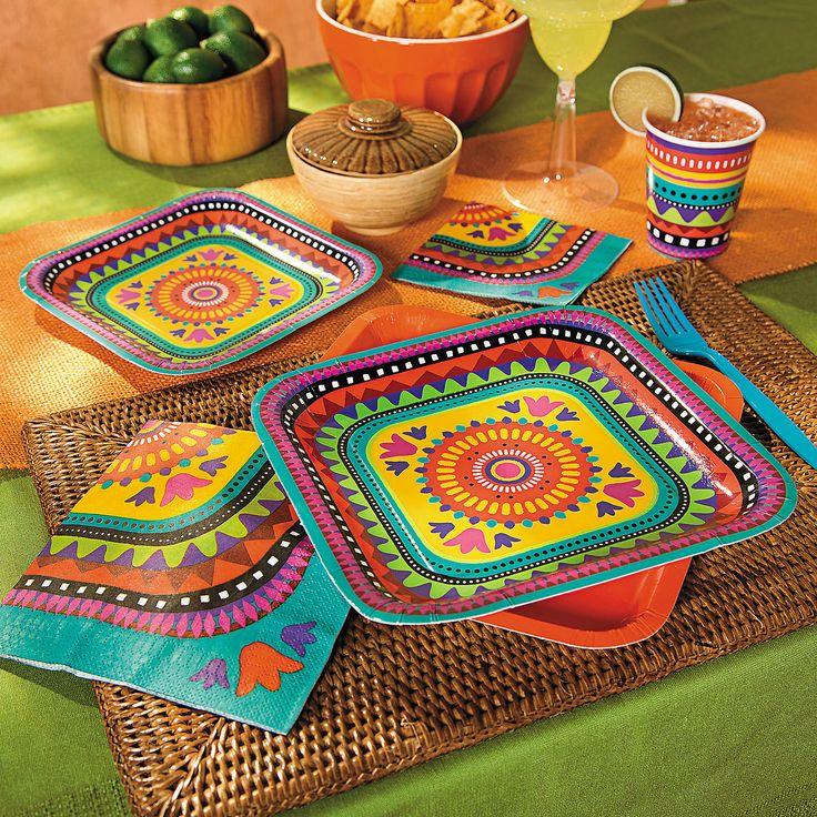 Bright Fiesta Party Supplies - OrientalTrading.com