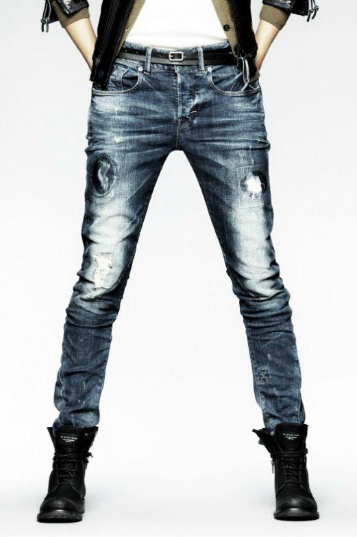 G-Star Raw Essential Cedar x Loose Tapered #distressed #denim #jeans