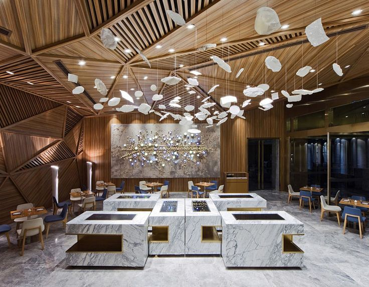 chengdu traditional chinese landscape paintings serve as inspiration for panoramas multi perspective restaurant interior - Multi Restaurant Design