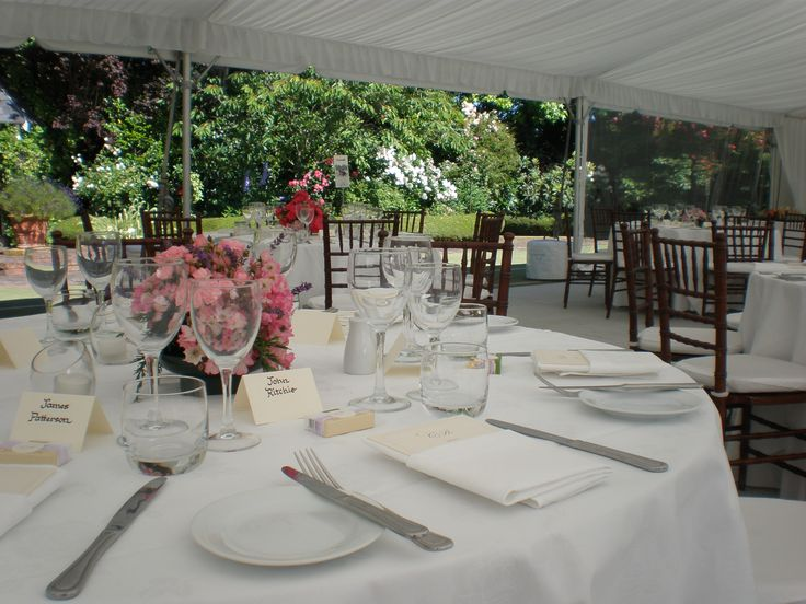 Table Setting looking out of Clear Walls