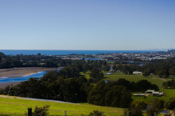 A view of Ulverstone township on the North (properly the N-West) coast of Tasmania.