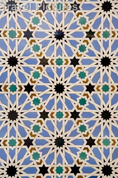 Ceramic Tiles Typical Of Arabic Art. Photo by: Ken Welsh