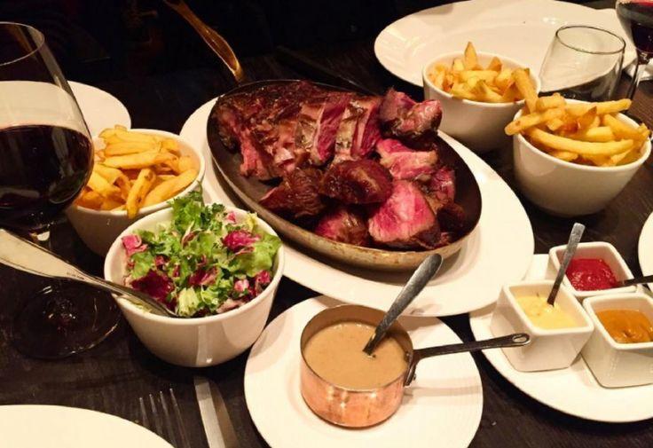 Viande au resto les oreilles et la queue Paris