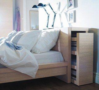 Tête et cadre de lit Malm, ikea