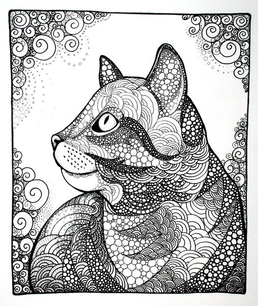 Dreamy Cat Art Print
