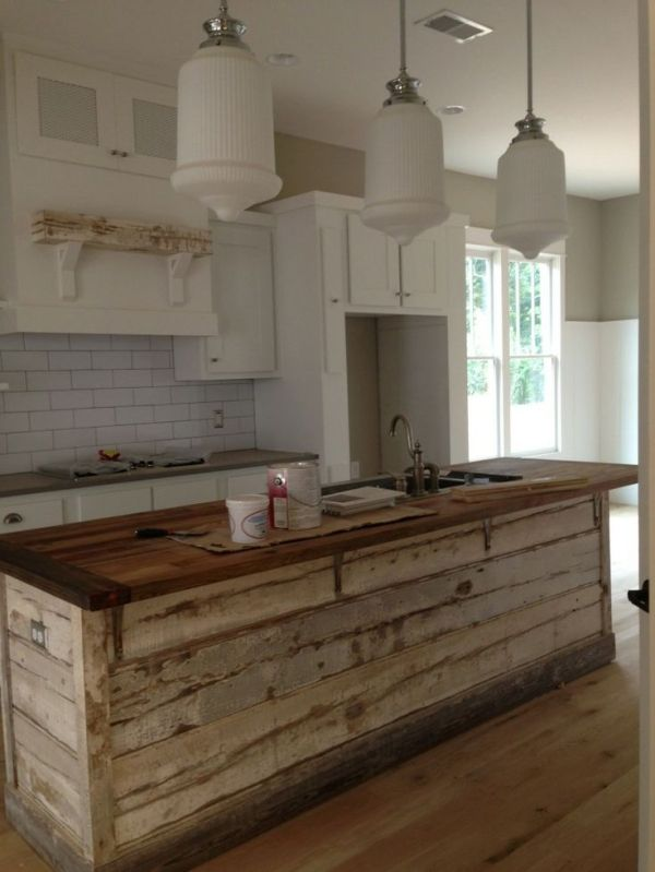 Wood Kitchen Island With Countertops White Cabinets