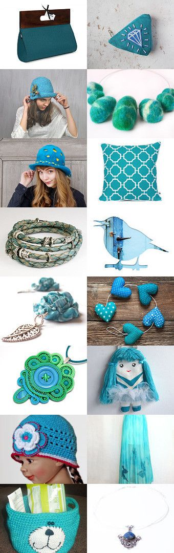 POLetsy in Turquoise! by Kornelia on Etsy--Pinned with TreasuryPin.com