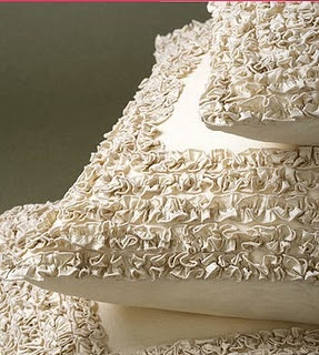 Ruffle Pillows out of Sheets.