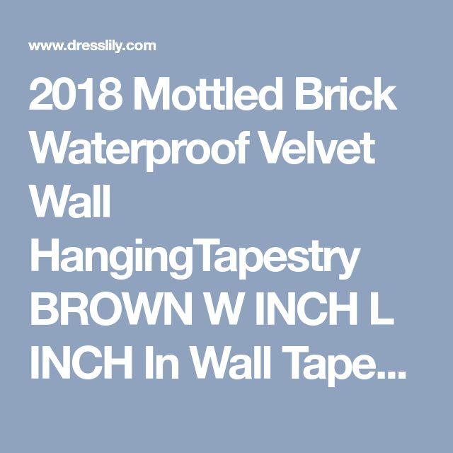 2018 Mottled Brick Waterproof Velvet Wall HangingTapestry BROWN W INCH L INCH In Wall Tapestries Online Store. Best Wall Art Christmas Snow For Sale | DressLily.com
