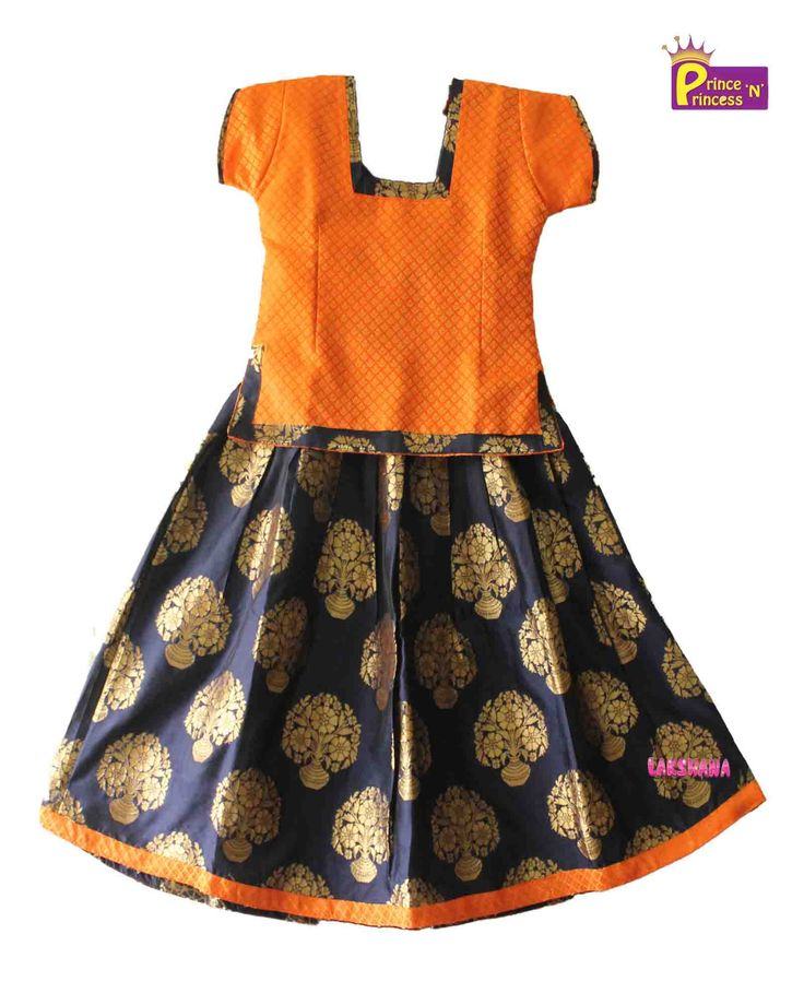 Kids Blue Trendy Pattu pavadai Langa Kids Traditional Ethnic Pattu Pavadai from www.princenprincess.in