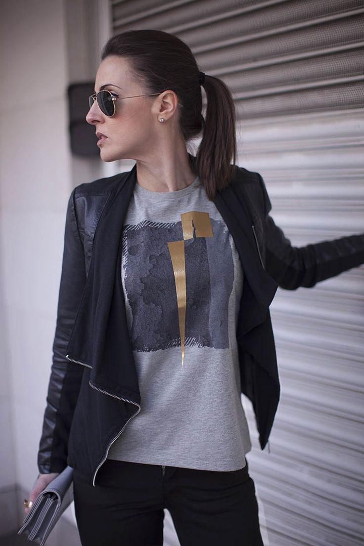 Rivington Grey Rock Chick Top | Urban Inspired Fashion | Free Worldwide Delivery