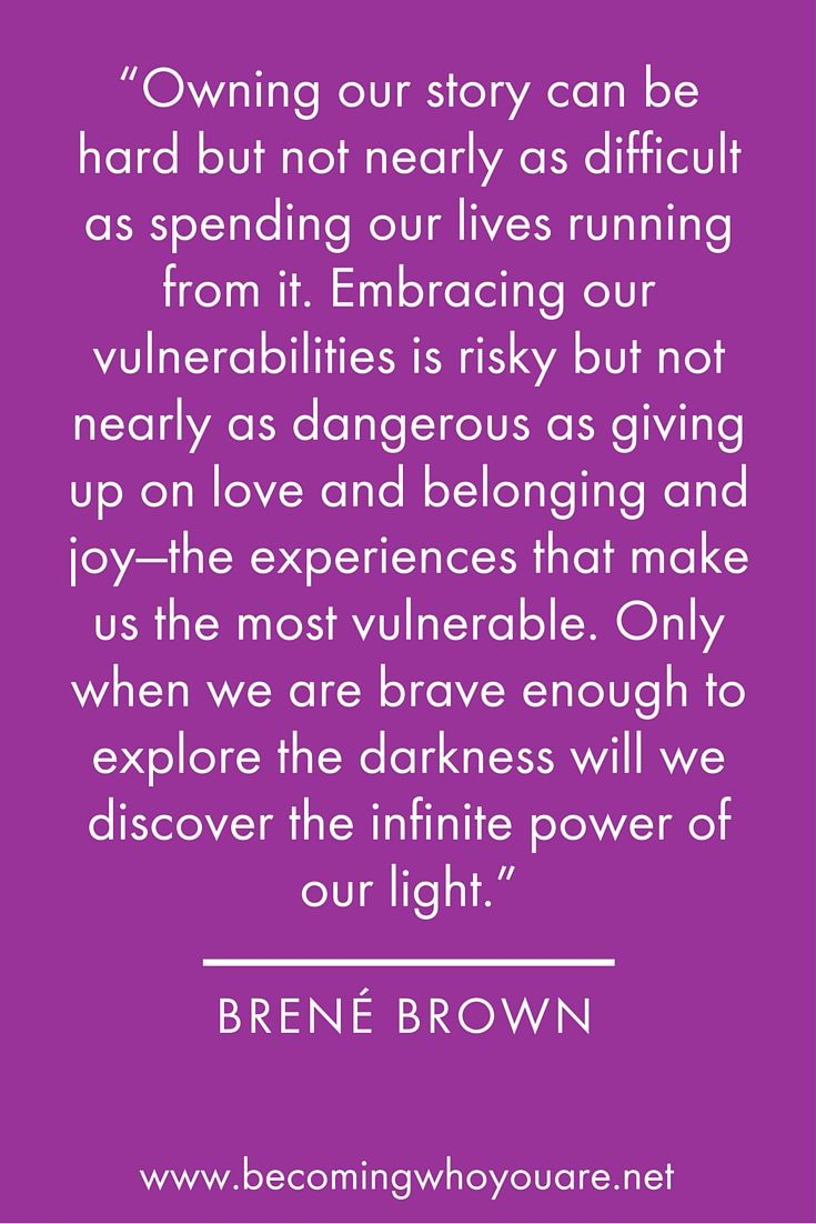 "Love this quote from Brené Brown in her fantastic book ""The Gifts of Imperfection"""