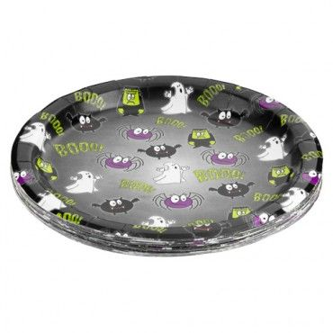 Halloween Party Paper Plates 20 Pack - Halloween Party Decorations - Halloween