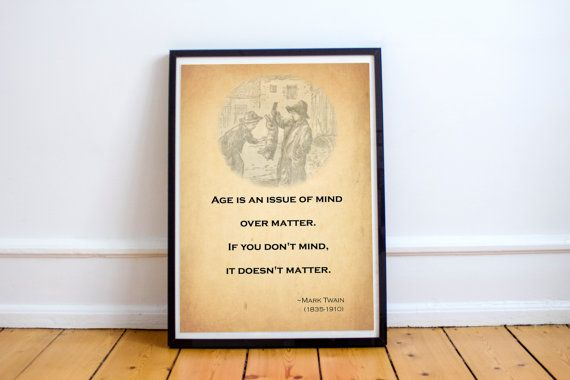 Mark Twain quote Brainy Quotes Wall decor Room by SmartDesignStore
