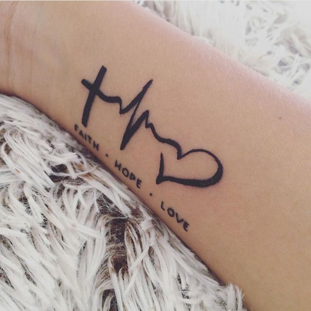FAITH • HOPE • LOVE   This tattoo reminds me what I believe                                                                                                                                                                                 More