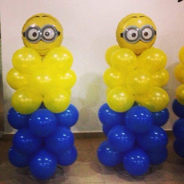 Minion balloon decoration decoración con globos