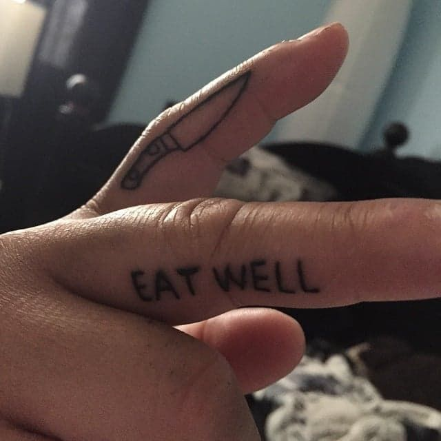 Pin for Later: Prepare to Obsess Over the Cutest Food Tattoos You've Ever Seen Life Motto