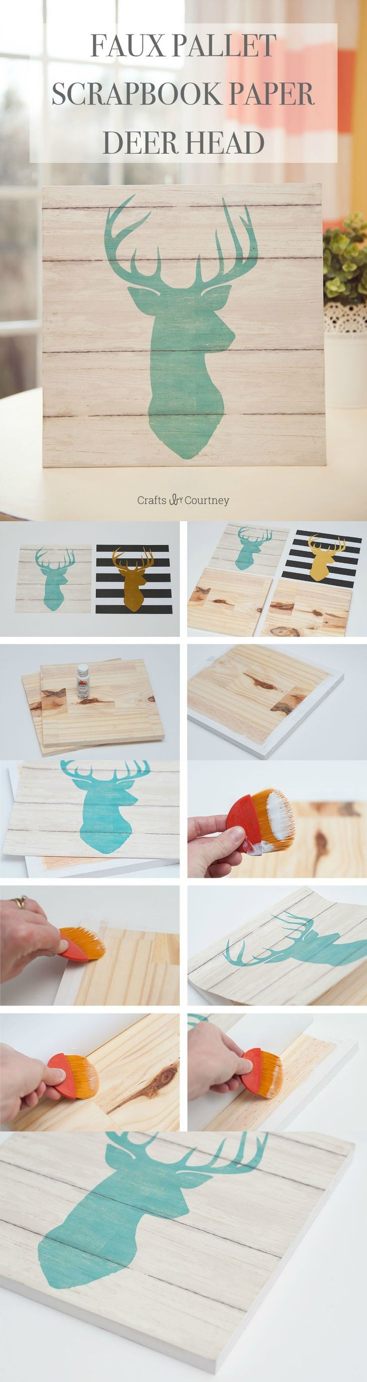 How to put scrapbook paper on wood - Use Cool Scrapbook Paper And Cut Pieces Of Wood To Make Fabulous Diy Wall Art In