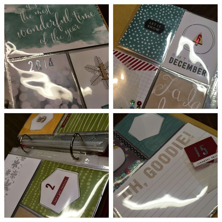 The Stamp Therapists: #PLxSU #DecDaily  Project Life by Stampin' Up!'s Hello December Project Life Card Collection and Accessory Pack.  Cherry 6x8 Album, too!