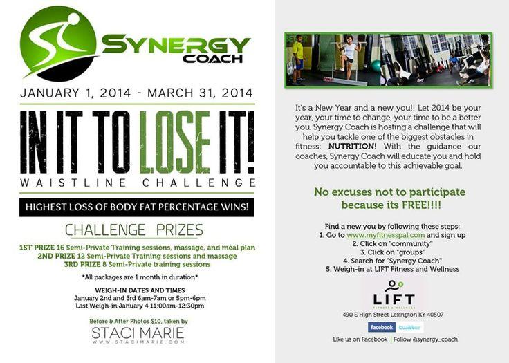 In It To Lose It Waistline Challenge 2014…are you ready to lose to #win?  #letsgo #letsgetit #behaviormodification #change2014