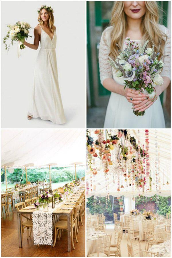gorgeous boho themed wedding ideas