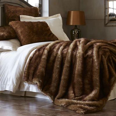 mink ombre faux fur blanket shams home pinterest. Black Bedroom Furniture Sets. Home Design Ideas