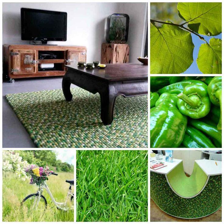 Kesäisen vihreään sisustukseen! http://www.HuopaPalloMatto.com #HuopaPalloMatto #sisustusinspiraatio #vihreä