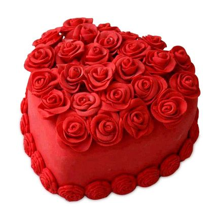 #Heart shape #Cake for your Valentines presenting by Ferns N Petals. http://bit.ly/1DWdxes