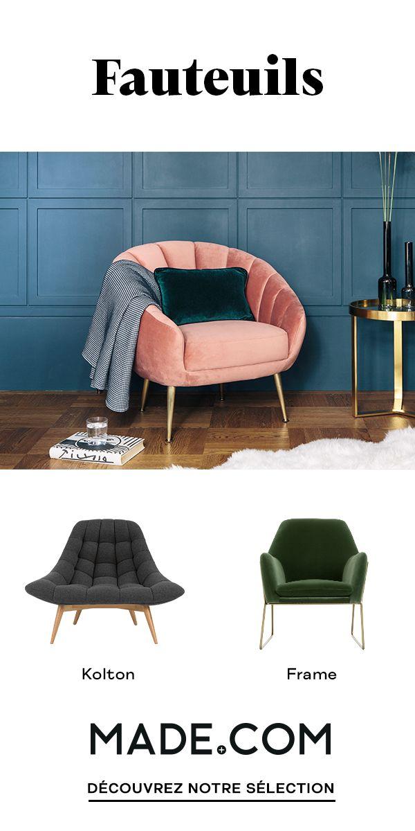 Nos Fauteuils Allient Confort Et Style Que Vous Cherchiez Un Fauteuil En Cuir Fauteuil Design Confortable Meubles De Salon Blanc Decoration Salon Canape Bleu