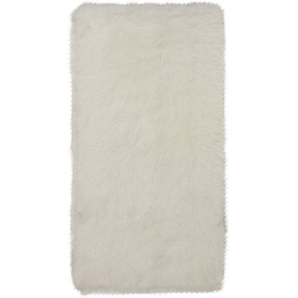 white faux fur rug 435 mxn liked on polyvore featuring home rugs