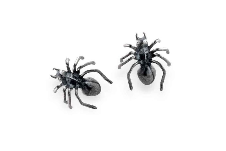 Mini Spider earrings by BugsAndAnts on Etsy