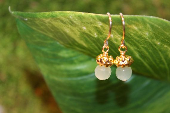 Bridesmaid's Gifts Under $20 - A tiny pair of dainty dewdrop earrings made up of sparkling glass beads and your choice of silver-plated or gold-plated beads and findings. Design by Swoon Creations. Handcrafted in PEI, Canada.