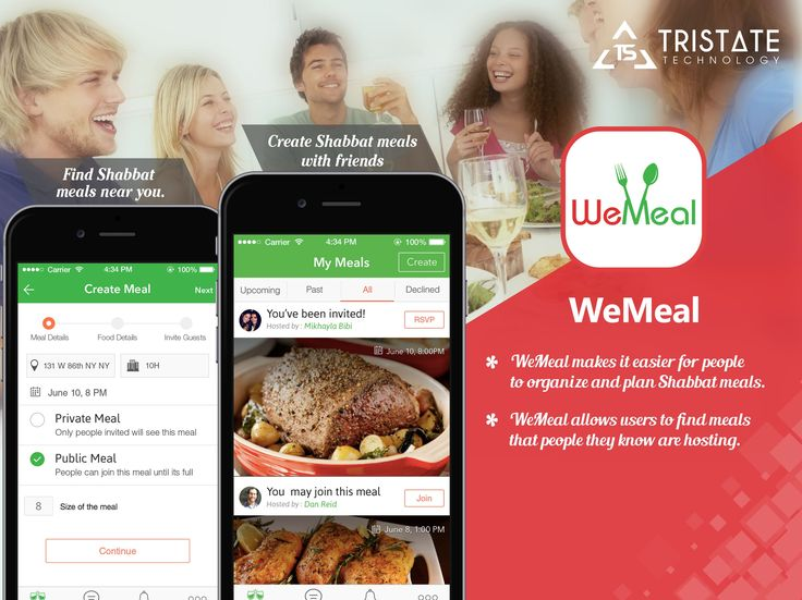 "TriState Technology Developed iPhone and android app which Grow your Food and Restaurants based app ""WeMeal """