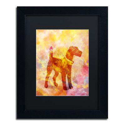 Trademark Art 'Colorful Dog' by Adam Kadmos Framed Graphic Art